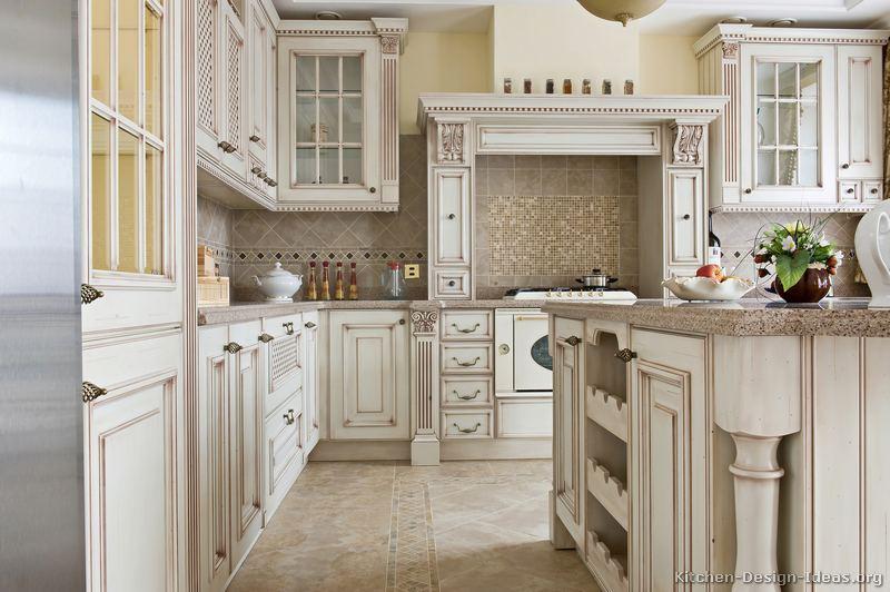 Antique white kitchen table photo - 2