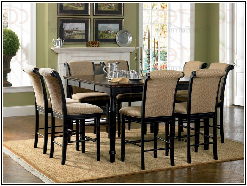 Bar height kitchen table and chairs photo - 1