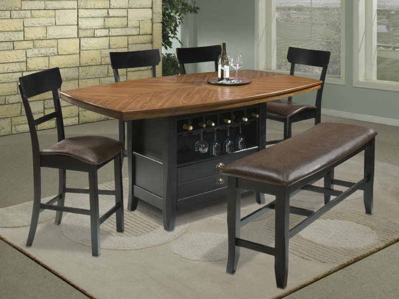 Bar height kitchen table and chairs photo - 2