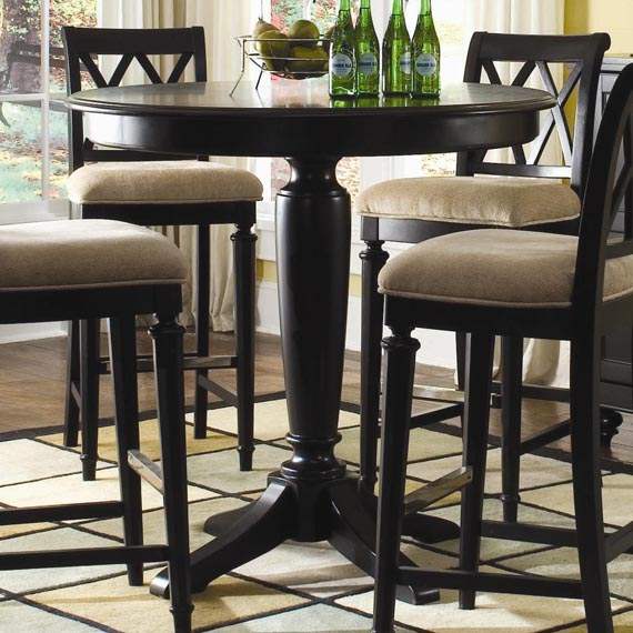 Bar height kitchen table and chairs photo - 3