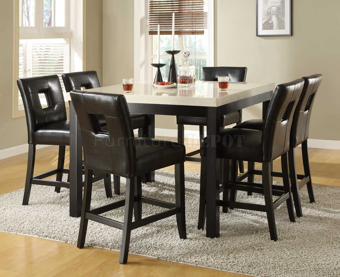 Bar height kitchen table set photo - 3