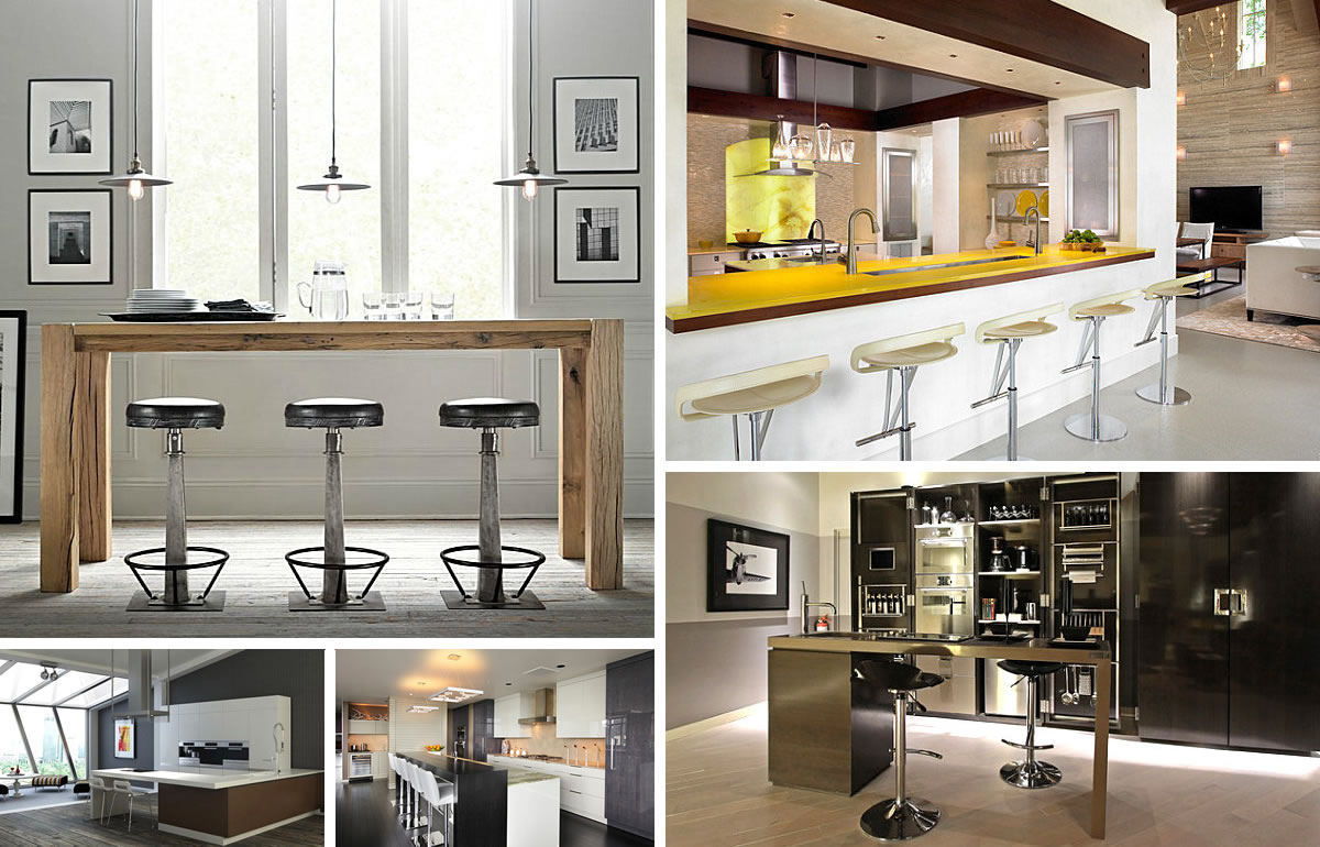 Kitchen bar table bar table small space kitchen bar view in gallery - Bar Stool Kitchen Table Photo 2