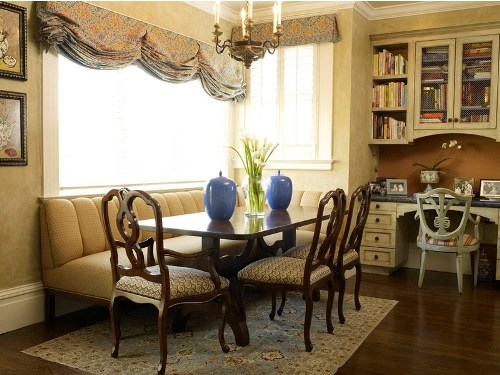 Bench seating kitchen table photo - 1