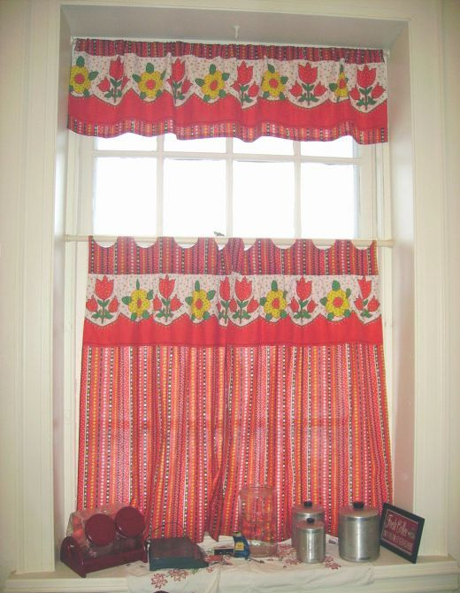 Kitchen Curtains Red. Spice Route Red Orange Moroccan Indian ...