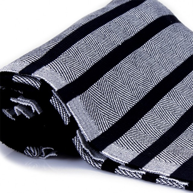Black and white kitchen towels photo - 1