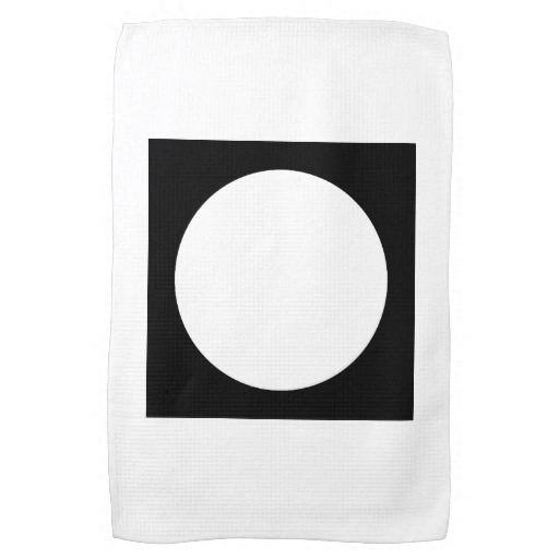 Black and white kitchen towels photo - 3