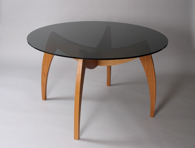 Black glass kitchen table photo - 1