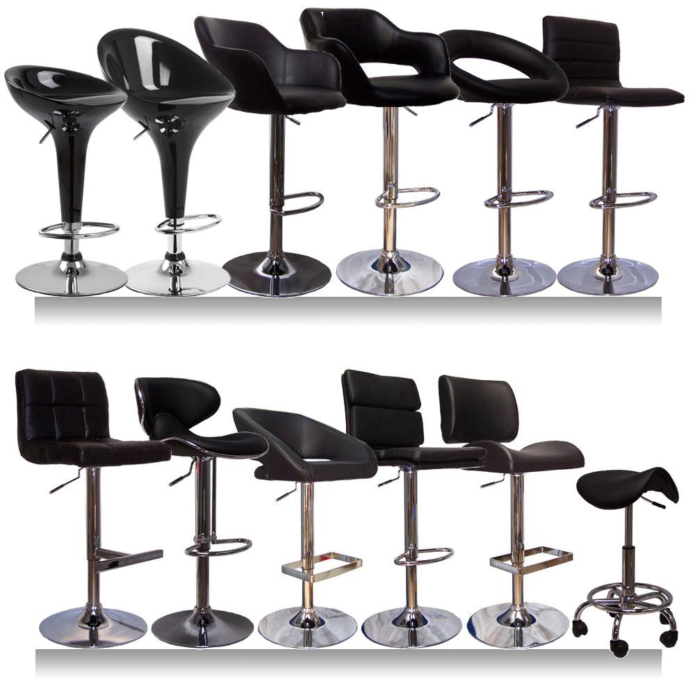 Black kitchen bar stools photo - 3