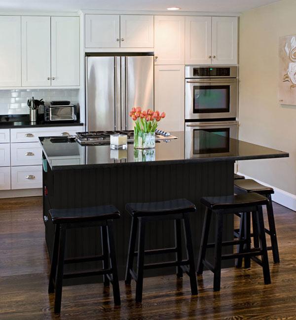 Black kitchen island | | Kitchen ideas