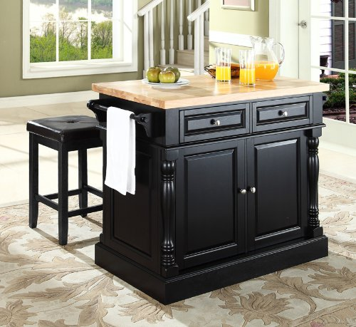 10 Photos To Black Kitchen Island With Butcher Block Top