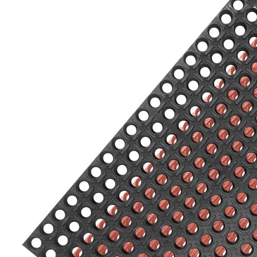 Black kitchen mat photo - 2