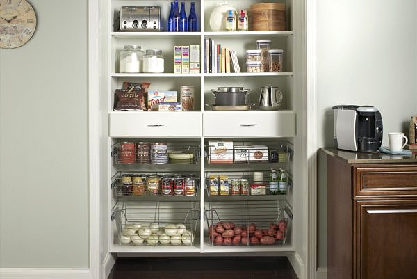 Black kitchen pantry photo - 2