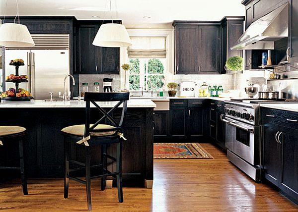 Black kitchen pantry photo - 3