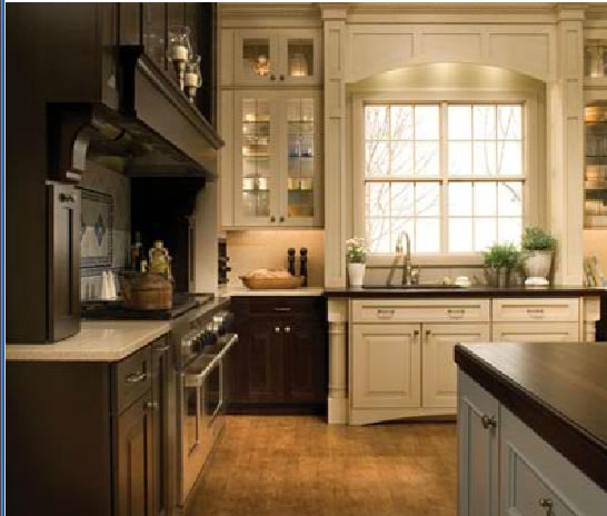 Black kitchen pantry cabinet photo - 2