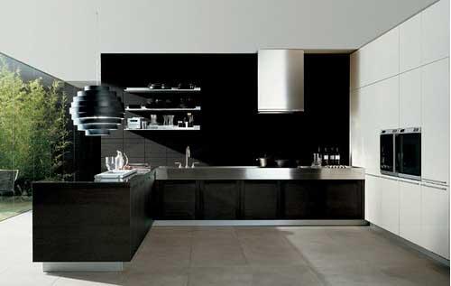 Black kitchen sets photo - 3