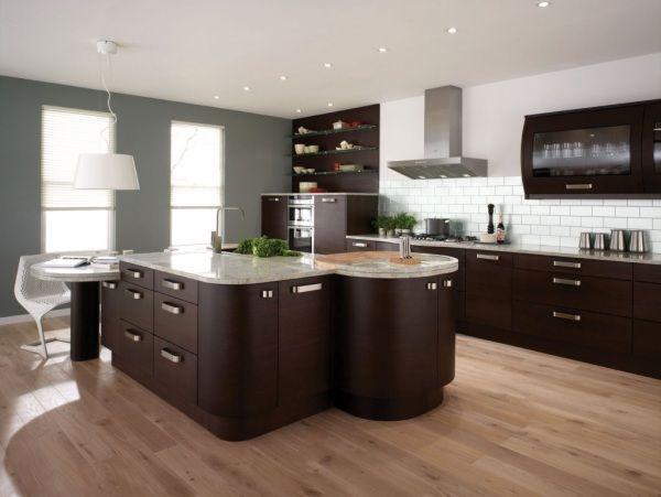 Black kitchen storage cabinet photo - 3
