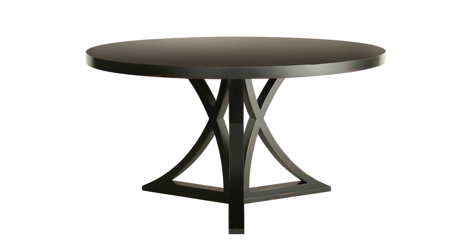 Black round kitchen table photo - 1