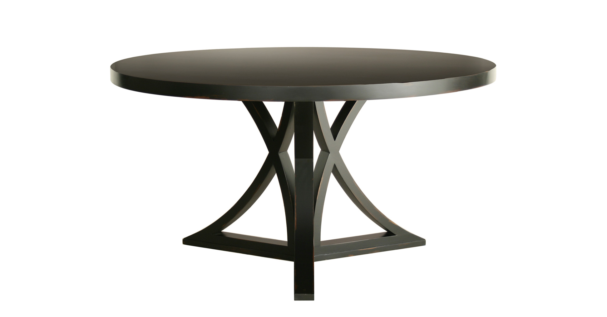 Black round kitchen table and chairs photo - 2