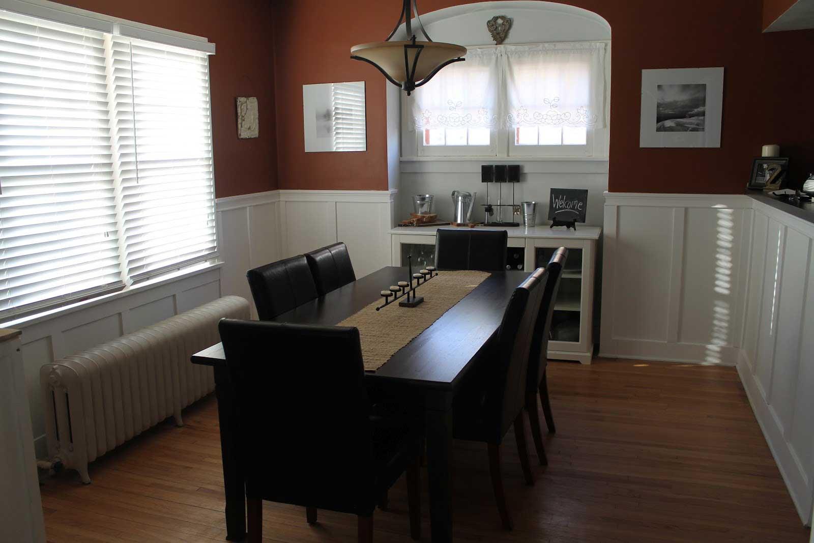 Black wood kitchen table photo - 2