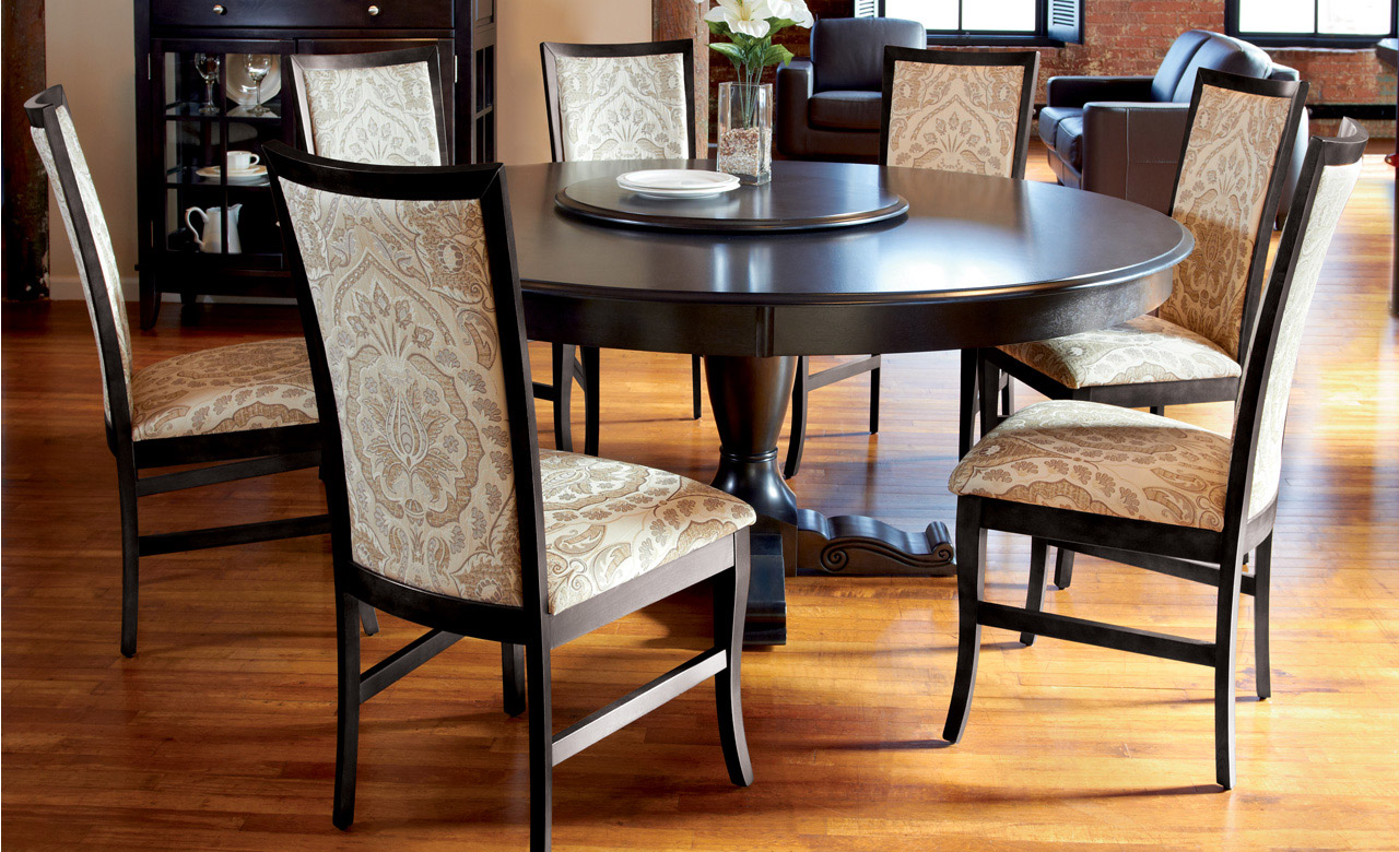 Black wood kitchen table photo - 3