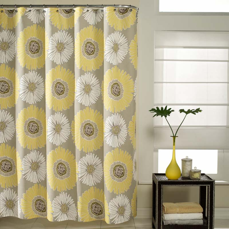 Blue and yellow kitchen curtains photo - 2
