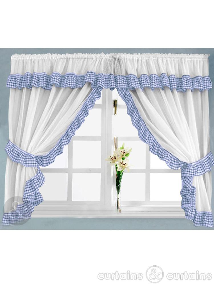 Beautiful 10 Photos To Blue Kitchen Curtains