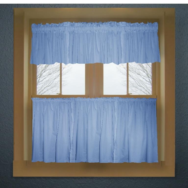 Blue kitchen curtains photo - 3