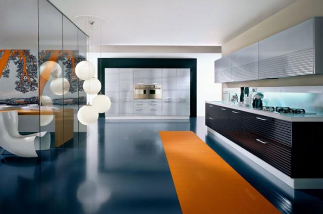 Blue kitchen rugs photo - 3