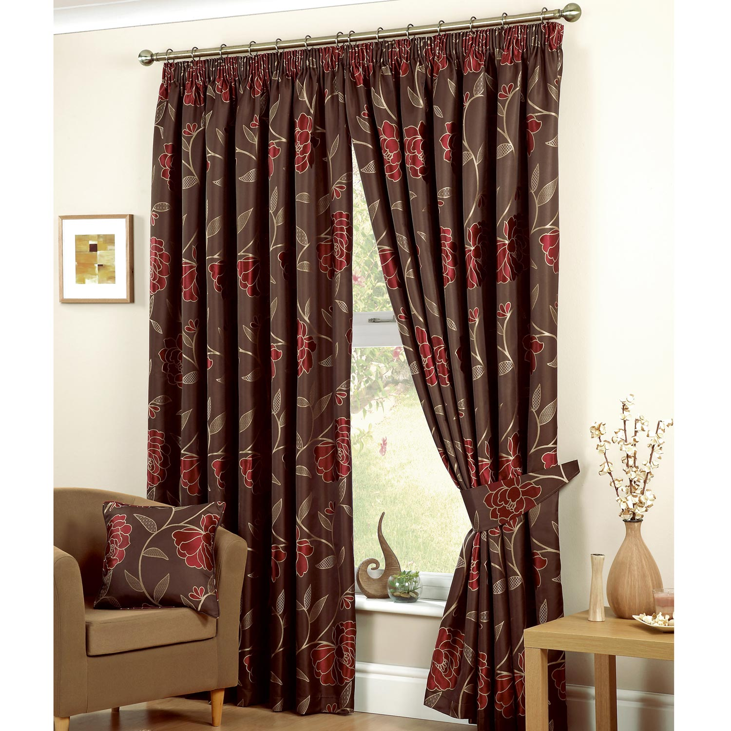Brown Kitchen Curtains Photo   1 Brown Kitchen Curtains Photo   1 ...