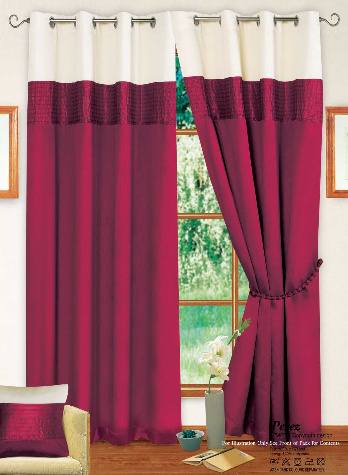Wonderful 10 Photos To Burgundy Kitchen Curtains