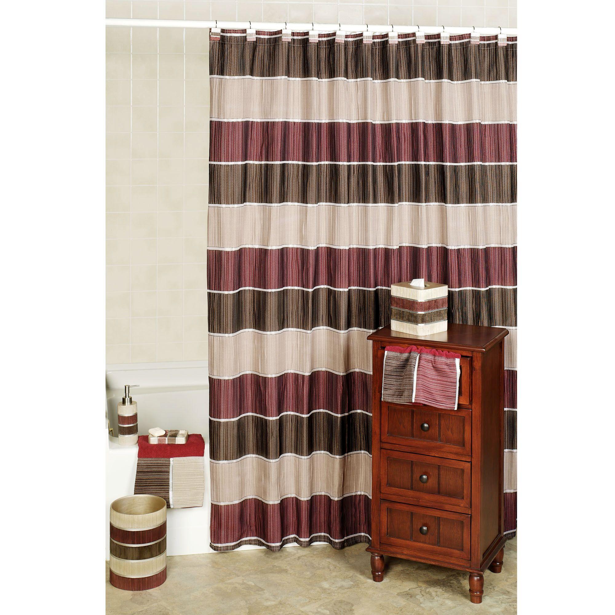 Burgundy kitchen curtains photo - 3