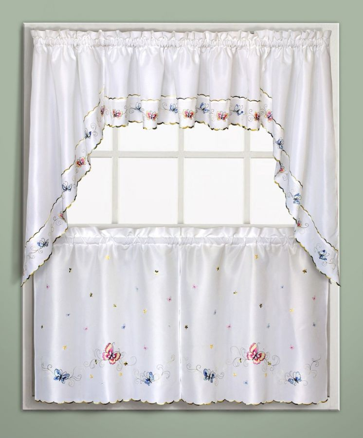 Butterfly kitchen curtains photo - 1