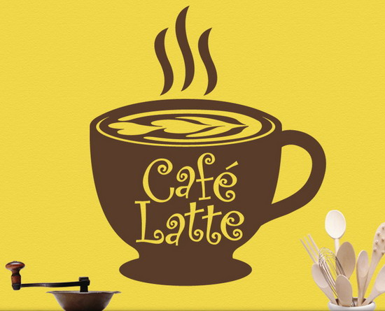 Cafe latte kitchen decor photo - 1