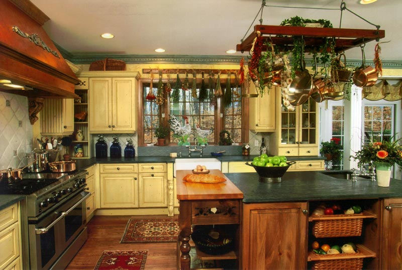 Cafe style kitchen curtains photo - 1