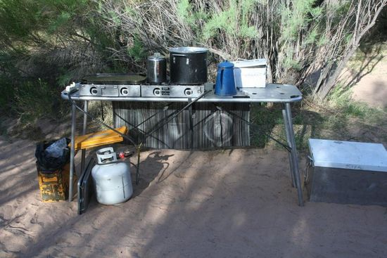 Camp kitchen with sink photo - 3