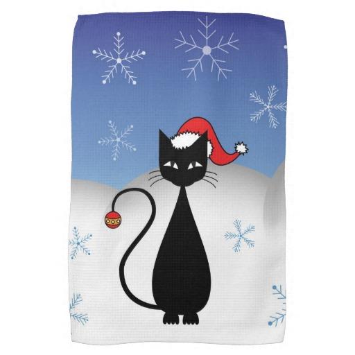 Cat kitchen towels photo - 2