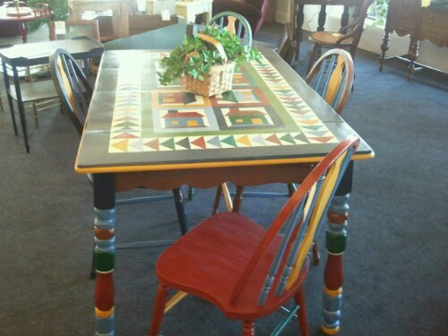 Cherry kitchen table and chairs photo - 3