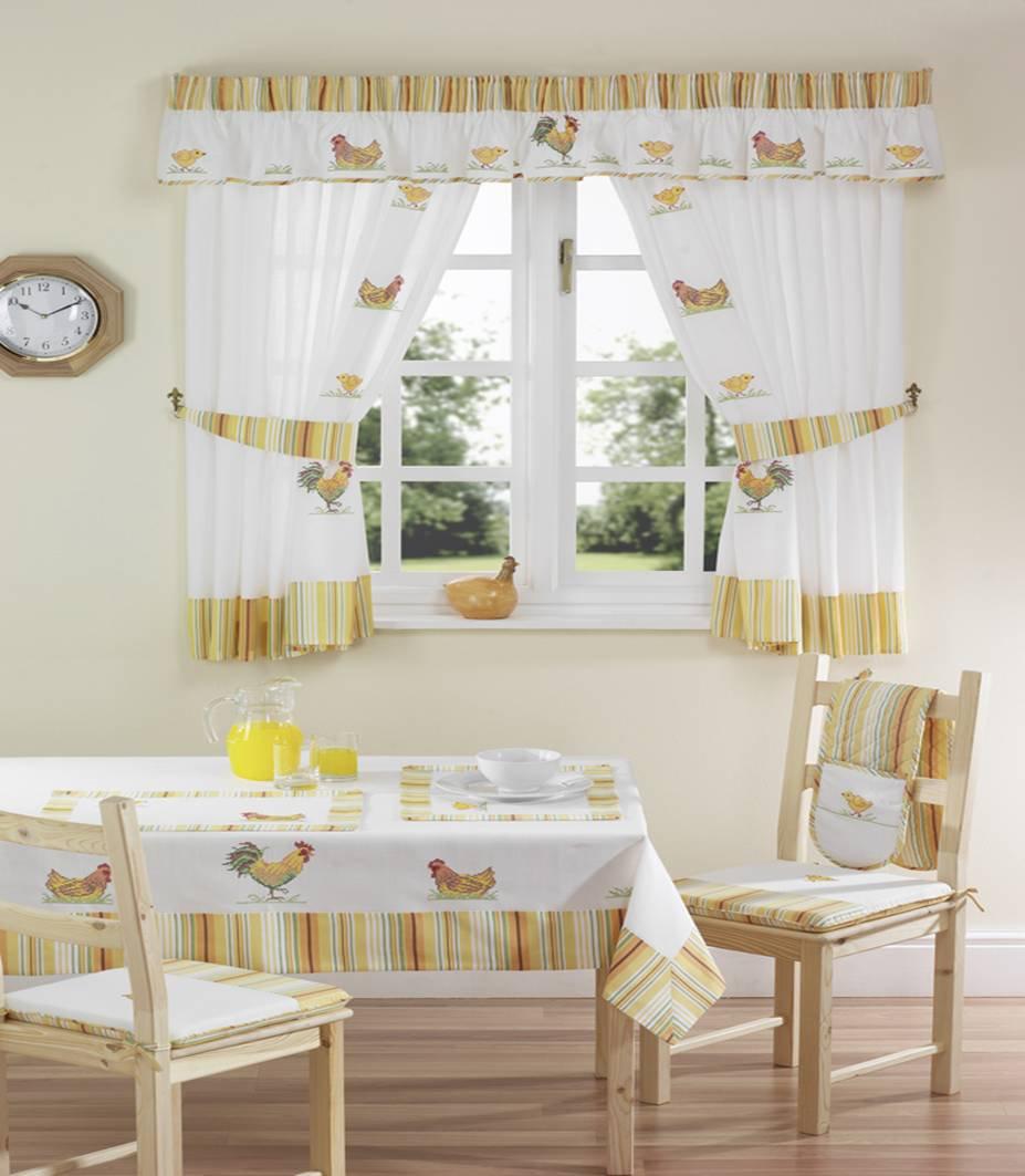 Chicken kitchen curtains photo - 3