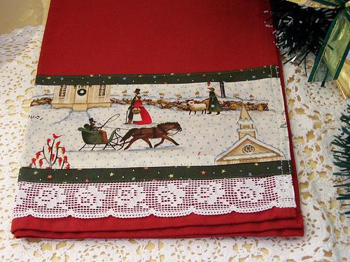 Christmas kitchen towels photo - 2