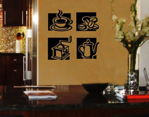 Coffee cup kitchen decor photo - 3