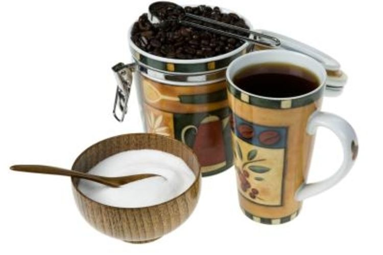 Coffee themed kitchen curtains photo - 3