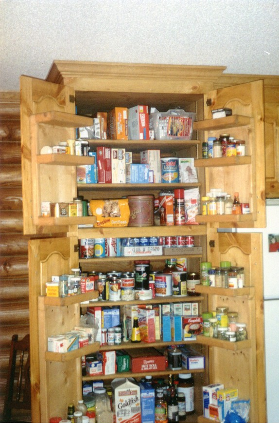 Corner kitchen pantry cabinet photo - 1
