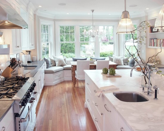 Corner kitchen tables with benches photo - 3