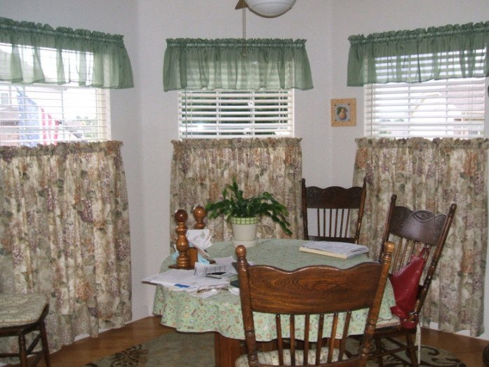 Cotton kitchen curtains photo - 1