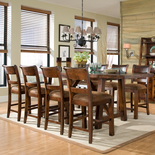 Counter height kitchen table and chairs photo - 1