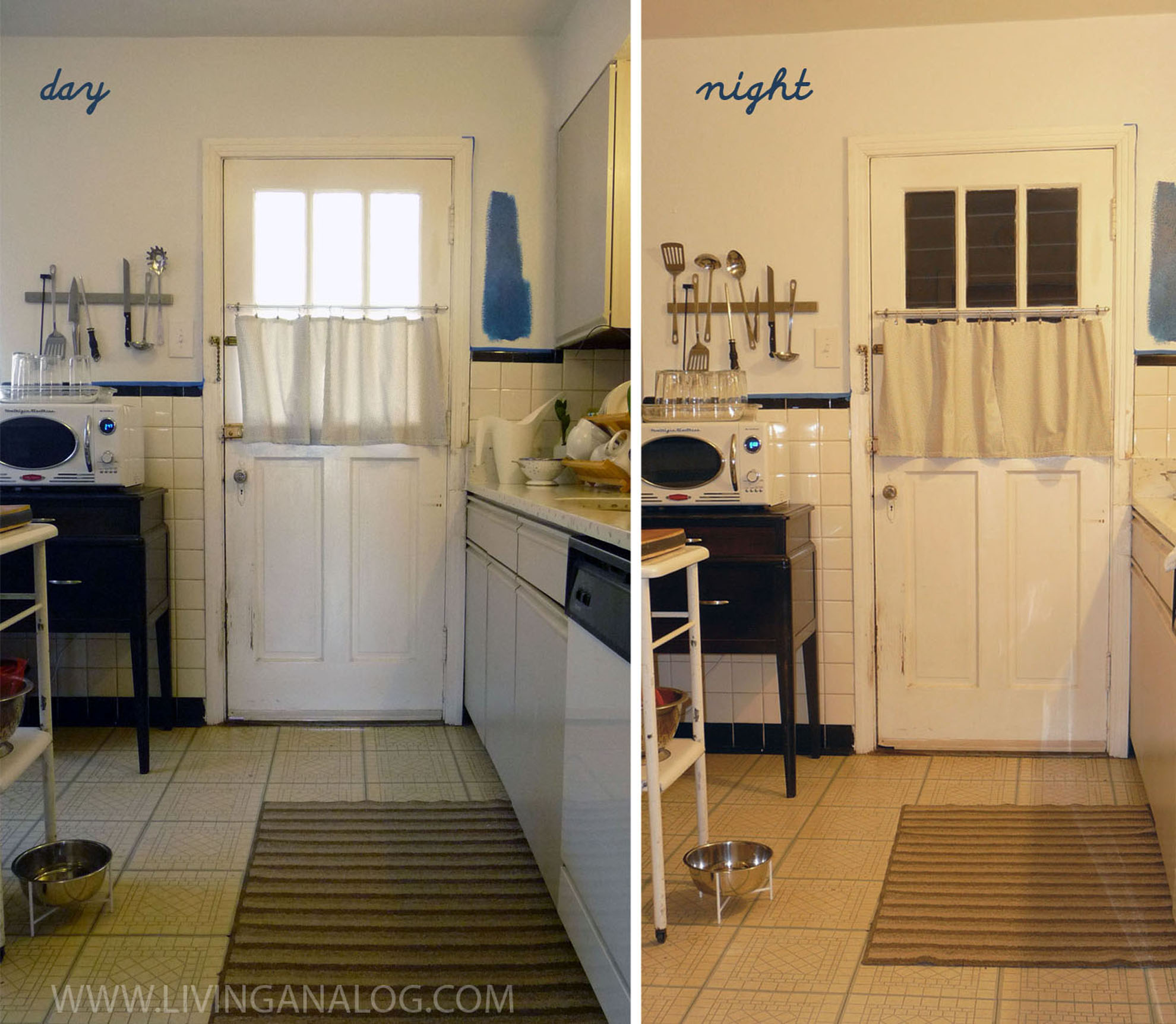 Curtains for kitchen door photo - 3