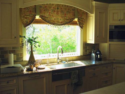 Curtains for kitchen windows photo - 3