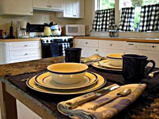 Cute kitchen curtains photo - 1