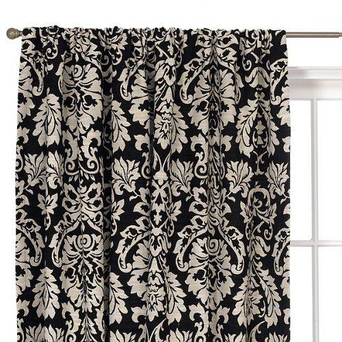 Damask kitchen curtains photo - 1