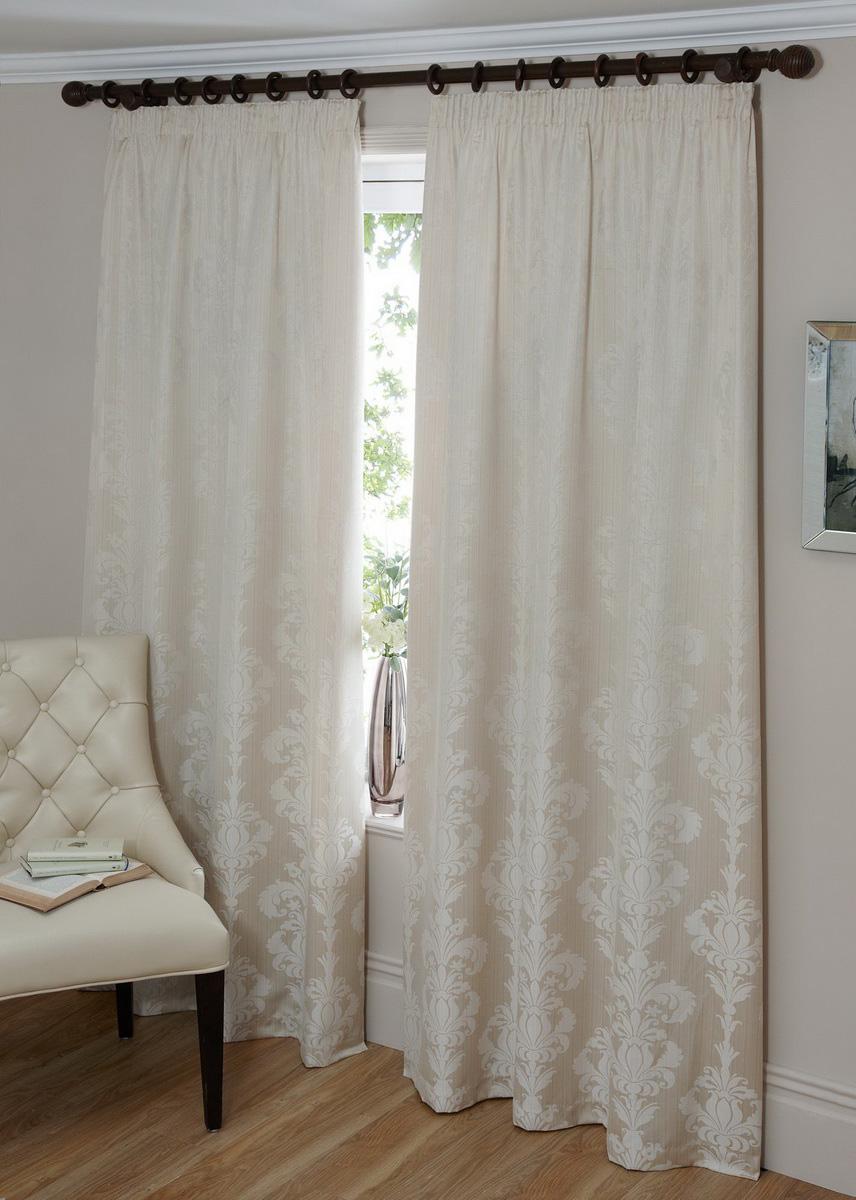 Damask kitchen curtains photo - 2